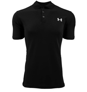 New Mens Under Armour Muscle Golf Polo Shirt Top Performance Athletic Black Navy