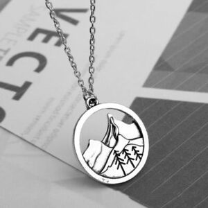 Silver Chain Pine Tree Necklace Lovely Round Mountain Pendant Women Jewelry Gift $7.91