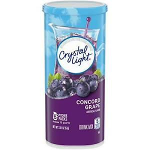 Crystal Light Concord Grape Drink Mix 6 Pitcher Packets $5.89