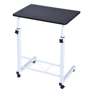 Portable Rolling Sofa Bed Side Table Laptop Desk Tray Stand Adjustable Height US $29.99