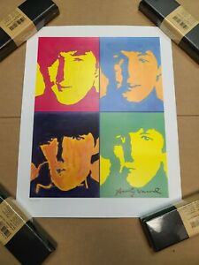 Andy Warhol Signed Hand Numbered Ltd Edtion quot;The Beatlesquot; Litho Print 147 300 $129.95