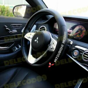 For MITSUBISHI Black 15 Diameter Car Auto Steering Wheel Cover New Faux Leather $24.26