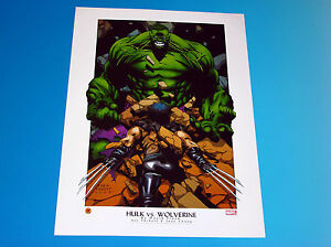 Hulk Vs Wolverine Lithograph Marvel Comics David Finch Artwork X Men 2003 $24.95