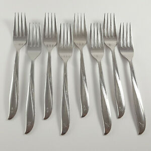 Oneida Community TWIN STAR Set of 8 Dinner Forks Stainless Flatware $44.95