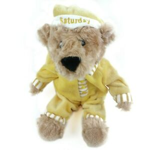 FAO Schwarz Bear Plush 10 Toys R Us Sleepy Time Saturday Yellow Pajamas Stuff $22.95