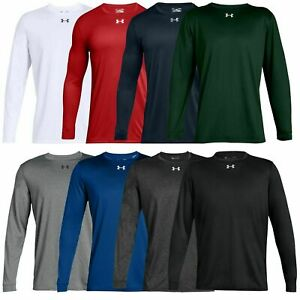 New With Tags Mens Under Armour Gym Muscle Crew Long Sleeve Tee Shirt Top $21.90