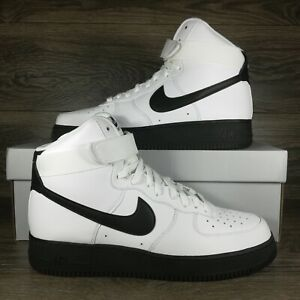 Nike Air Force 1 High 07 White Black Midsole Sneakers CK7794 101 Mens Size $129.95