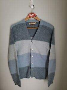 Vintage Robert Bruce Mohair Cardigan Cobain Sweater Grunge Fuzzy Men#x27;s Medium $110.00