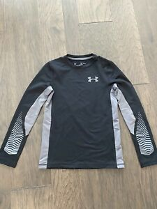 KIDS Under Armour Long Sleeve Shirt Size Youth M Black Training Work Out $8.99