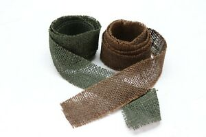 US Burlap Camouflage for helmets 2 in x 6 ft of OD and 6 ft of brown set E7051