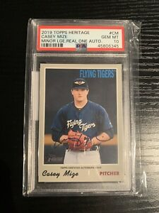 2019 Topps Heritage Minor League On Card Auto CASEY MIZE Tigers #ROA CM $99.99