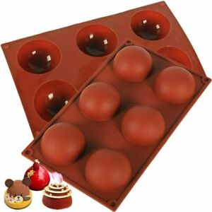 70mm Large Half Ball Sphere Silicone Cake Mold Muffin Chocolate Baking Mould 1pc $7.79