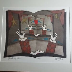 Rare Peter Barger Hand Colored Etching Signed And Numbered 3 90 $400.00