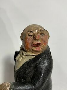 Antique American Folk Art Carving Of A Butler Ca 1930s $75.00