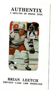 Brian Leetch NHL hockey star phone card Preview Card Factory Sealed $1.99