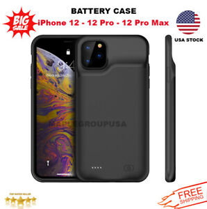 iPhone 12 12 Pro Max External Battery Charger Case Power Bank Charging Cover $24.99