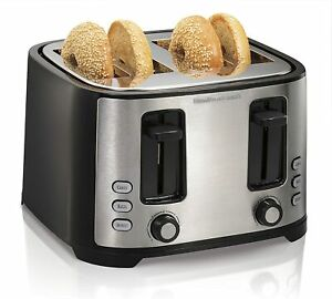 4 Slice Extra Wide Slot Toaster with Defrost and Bagel Functions Shade Selector $34.99