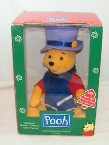NEW AND RARE POOH W PIGLET RISES FROM UNDER HAT ANIMATED FIGURE TELCO $323.90