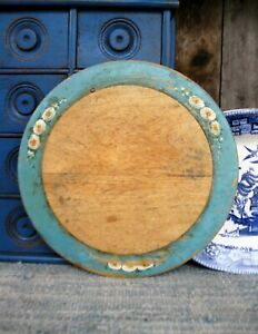Antique Wood Cutting Board Original Robins Egg Blue Paint Cottage Style $125.00