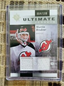 Martin Brodeur 2011 12 Ultimate Collection Hockey Ultimate Jerseys 100 FREESHIP $22.95