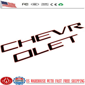 Blackamp;Red Tailgate CHEVROLET Emblems letters For 19 20 Chevrolet Silverado 1500