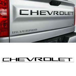 Black Tailgate CHEVROLET Emblems letters For 19 20 Chevrolet Silverado 1500 New