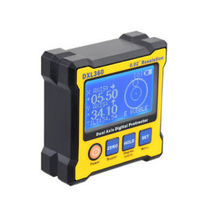New Dual Axis 0.02° Resolution Digital Angle Protractor Inclinometer DXL360 Y0O4 $67.53