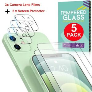Tempered Glass Screen Protector Camera Lens Film For iPhone 12 Pro Max Mini 12