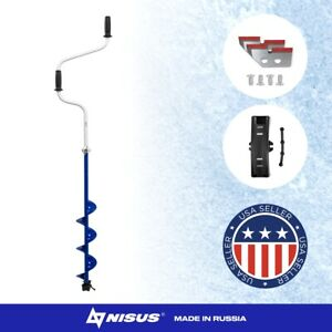 Classic Ice Fishing Manual Ice Auger with Telescopic Handle