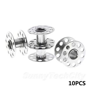 10Pcs Stainless Steel Bobbins Sewing Spool Machine Craft Sewing Tool Wholesale $5.35