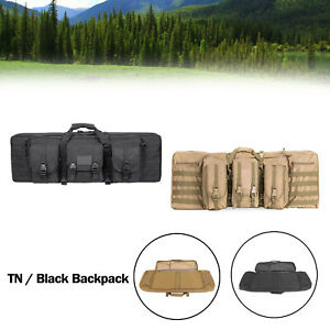 36quot; Heavy Duty Double Carbine Rifle Bag Soft Gun Case Hunting Storage Backpack