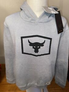 NWT Boys Youth Under Armour Project Rock Warm Up Hoodie 1348534 XL Sold Out $39.99