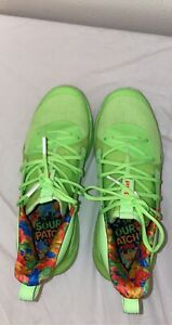 UA Curry 7 Sour Patch men Lime Green size 10 Under Armour Basketball Shoes $160.00