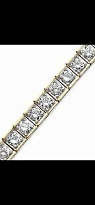 5 CT. GENUINE DIAMOND TENNIS BRACELET 14K