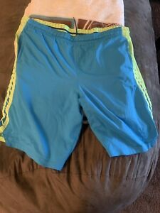 Neon Green amp; Blue mens nike dri fit shorts XXL in Great Condition $10.25