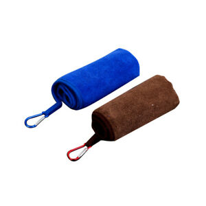 2pcs Fishing Towels with Carabiner Absorbent Sports Towel Outdoors Fishing Cloth