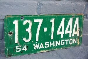 1954 WASHINGTON License Plate ** #x27;54 WA ***