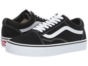Vans OLD SKOOL Mens Womens Black White Canvas Lace Up Low Top Skateboard Shoes $49.95