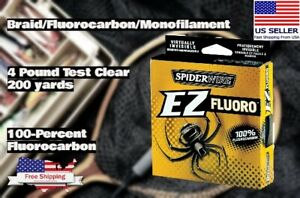 Spiderwire EZ Fishing Fluorocarbon Line Filler Spool 4lb 200yd Clear Oama Trout