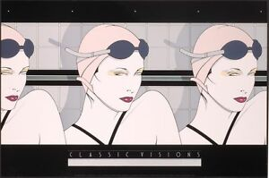 Patrick Nagel SWIMMERS Rare Lithograph Art Women Swimming Out of Print New $28.99