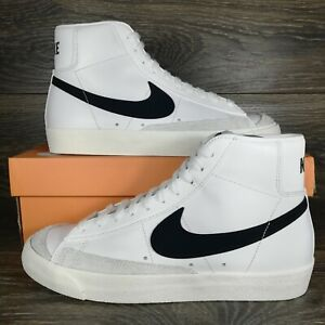 Nike Blazer Mid 77 Vintage White Black Sneakers BQ6806 100 Mens Sizes $109.95