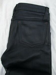 NYC Leatherman Leather Man black straight leg gay fetish jeans pants 29 30 32