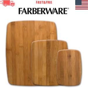 Farberware Classic 3 Piece Bamboo Cutting Board Set Kitchen Supplies Trends NEW $21.99
