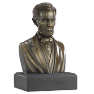 President Abraham Lincoln Bronze 6quot; Sculpture Bust Collectible Statue New $29.95