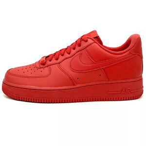 Nike Air Force 1 Low 07 LV8 Triple Red Sneakers CW6999 600 Mens Sizes $100.00