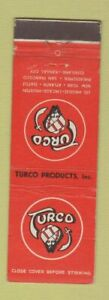Matchbook Cover Turco Products Los Angeles Chicago Houston Atlanta