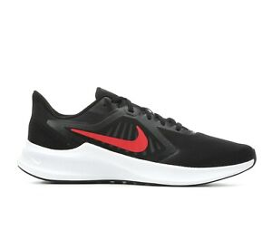 NEW MEN'S NIKE DOWNSHIFTER 10 RUNNING SHOES IN BLACK RED WHITE IN MEDIUM
