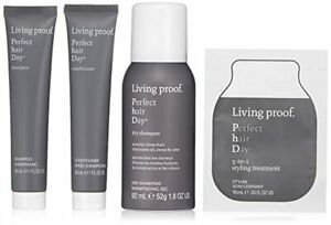 Living Proof Healthy Strong PHD Mini Kit Dry Shampoo Styler Conditioner Travel $11.95