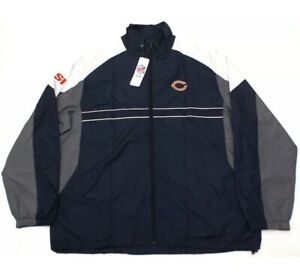 NEW Chicago Bears Windbreaker NFL Team Jacket Sports Illustrated SI XL Deadstock