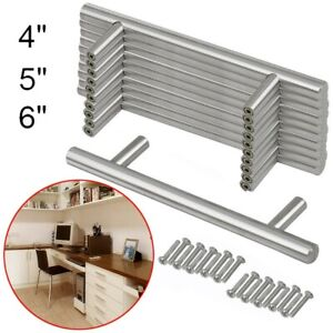 25x T Bar Knob Stainless Steel Kitchen Cabinet Pulls Cupboard Door Handle Drawer $10.74
